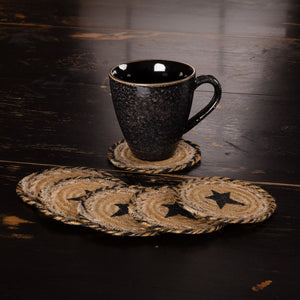 "Kettle Grove Star Braided Coaster 4"" - Set of 6"
