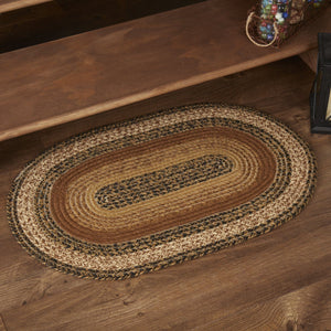 "Kettle Grove Oval Braided Rug 20x30""- with Pad"