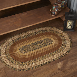 "Kettle Grove Oval Braided Rug 24x36""- with Pad"