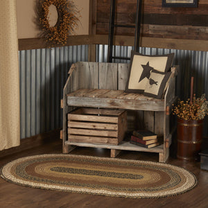 "Kettle Grove Oval Braided Rug 36x60""- with Pad"