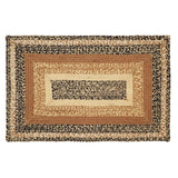 "Kettle Grove Rectangle Braided Rug 24x36"" - with Pad - Primitive Star Quilt Shop"