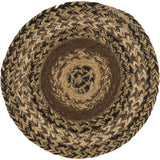 "Kettle Grove Braided Trivet 8"" - Primitive Star Quilt Shop"