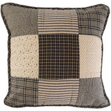 "Kettle Grove Patchwork Quilted Pillow 16"" Filled - Primitive Star Quilt Shop"