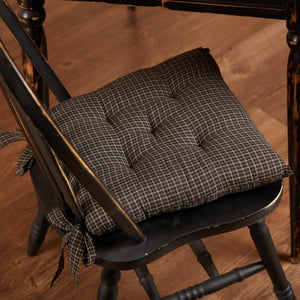 Kettle Grove Plaid Chair Pad 15""
