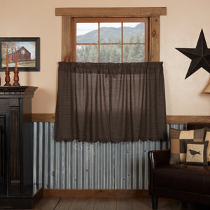 Kettle Grove Scalloped Lined Tier Curtains 36""
