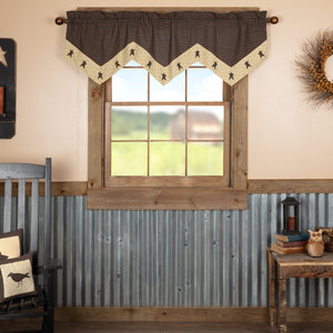 Kettle Grove Star Lined Valance 60""