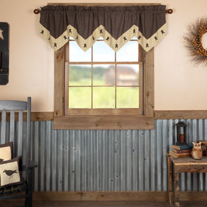 Kettle Grove Star Lined Valance 72""