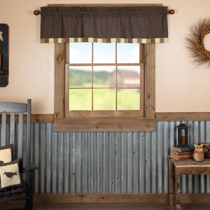 Kettle Grove Block Border Lined Valance 60""