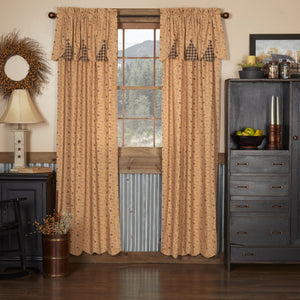 Maisie Scalloped Lined Panel Curtains 84""