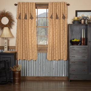 Maisie Scalloped Lined Short Panel Curtains 63""