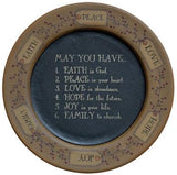 May You Have... Plate - Primitive Star Quilt Shop