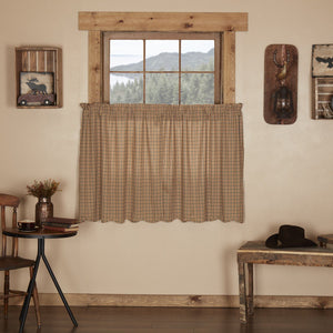 Millsboro Scalloped Lined Tier Curtains 36""