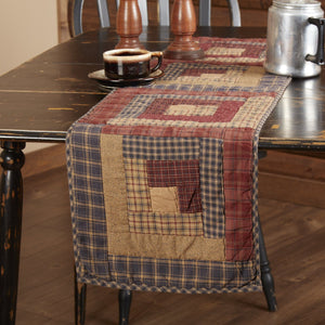 Millsboro Quilted Log Cabin Block Runner 13x48""