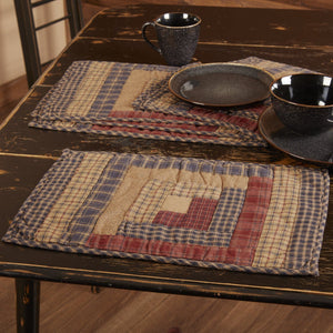 Millsboro Quilted Log Cabin Block Placemat - Set of 6