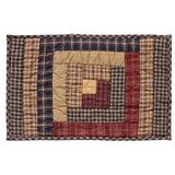 Millsboro Quilted Log Cabin Block Placemat - Set of 6 - Primitive Star Quilt Shop