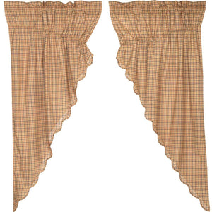 Millsboro Scalloped Lined Prairie Curtains 63""