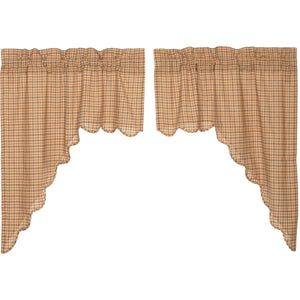 Millsboro Scalloped Lined Swag Curtains
