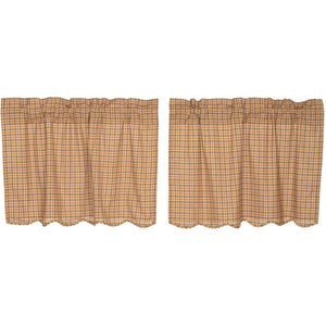 Millsboro Scalloped Lined Tier Curtains 24""