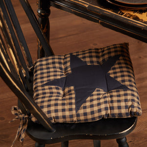 Navy Star Chair Pad 15""