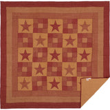 Ninepatch Star Quilt Queen Quilt- Primitive Star Quilt Shop