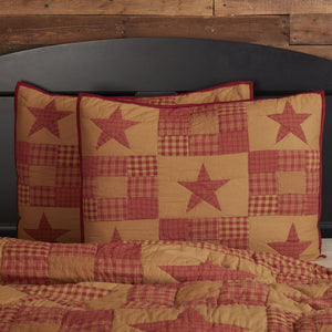 Ninepatch Star Quilted Standard Sham 21x27""