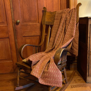 Packsville Rose Cranberry Woven Throw