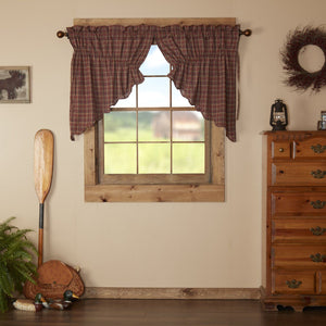 Parker Scalloped Lined Prairie Swag Curtains
