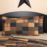 "Patriotic Patch Quilted King Sham 21x37"" - Primitive Star Quilt Shop"