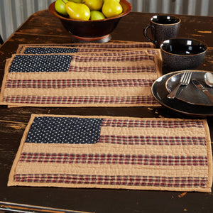 Patriotic Patch Quilted Flag Placemat - Set of 6