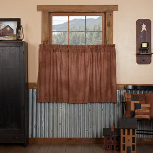 Patriotic Patch Lined Tier Curtains 36""