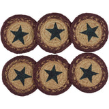 "Potomac Stencil Braided Coaster 4"" - Set of 6 - Primitive Star Quilt Shop"
