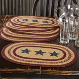 "Potomac Stencil Braided Placemat 12x18"" - Set of 6 - Primitive Star Quilt Shop"