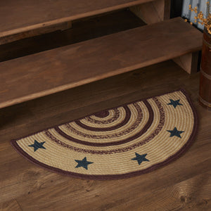 "Potomac Stencil Half Circle Braided Rug 16.5x33"" - with Pad"
