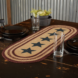 Potomac Stencil Star Braided Runner 13x36""
