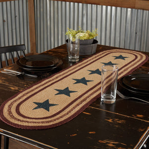 Potomac Stencil Star Braided Runner 13x48""