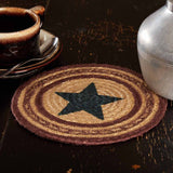 "Potomac Stencil Star Braided Trivet 8"" - Primitive Star Quilt Shop"