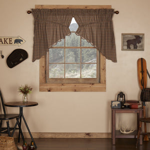 Prescott Scalloped Lined Prairie Swag Curtains