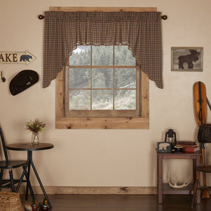 Prescott Scalloped Lined Swag Curtains