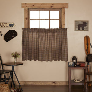Prescott Scalloped Lined Tier Curtains 36""
