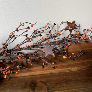 Primitive Mix Pip Berry and Star Garland 40""