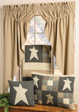 "Primitive Star Lined Prairie Curtains 63"" - Primitive Star Quilt Shop"
