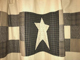 Primitive Star Shower Curtain - Primitive Star Quilt Shop