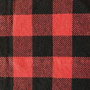 Red and Black Buffalo Check Woven Table Cloth 52x52""
