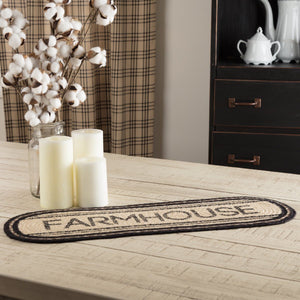 Sawyer Mill Charcoal Farmhouse Braided Runner 8x24""