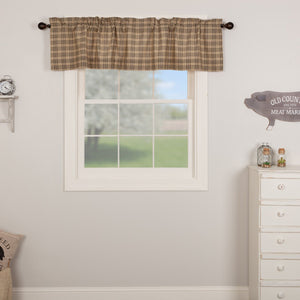 Sawyer Mill Charcoal Plaid Lined Valance 72""
