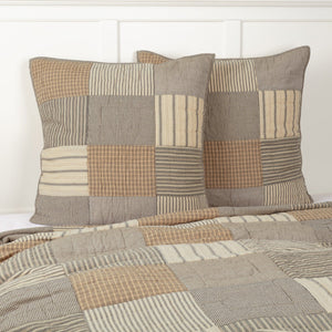 Sawyer Mill Charcoal Quilted Euro Sham 26x26""
