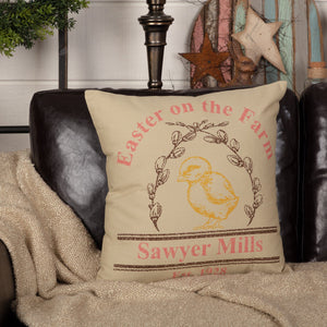 "Sawyer Mill Easter Chick Pillow 18"" Filled"