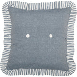 "Sawyer Mill Blue Barn Star Pillow 18"" Filled - Primitive Star Quilt Shop"