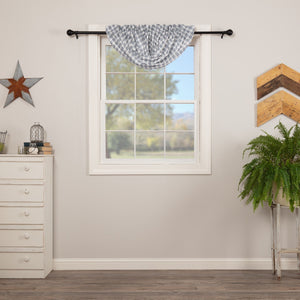 Sawyer Mill Blue Plaid Lined Balloon Valance