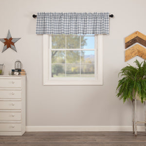 Sawyer Mill Blue Plaid Lined Valance 72""